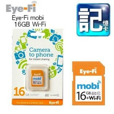 "Eye-Fi Mobi 16G WiFi SDHC 無線記憶卡 Class10 富堃公司貨""正經800"""