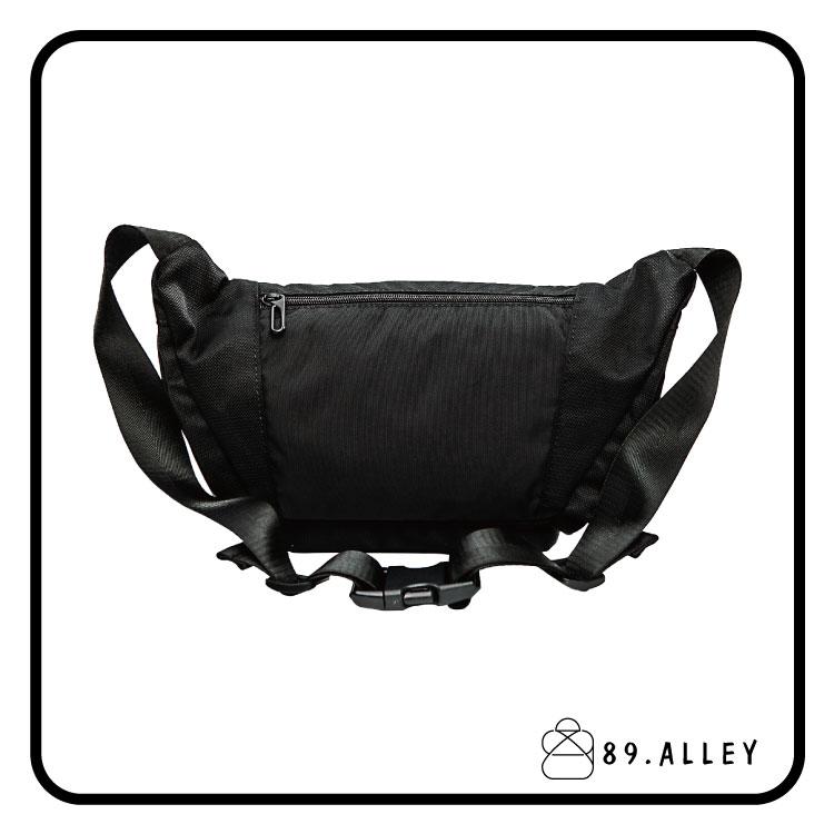 腰包 單肩包 女包男包 黑色系防水包 輕量尼龍立體圓弧情防搶包 89.Alley 3