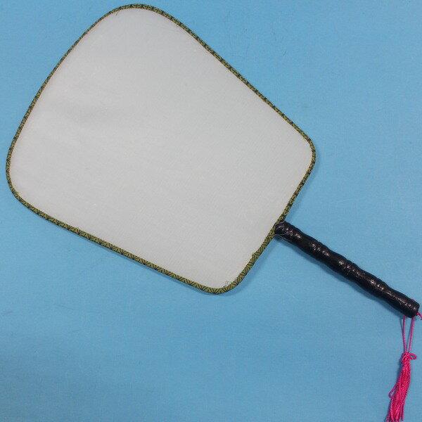 大方型空白扇子 木柄白布面宮廷扇子+琉疏 彩繪扇子/一袋10支入{定30}空白絹扇 團扇 圓扇子