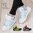 格子舖*【AJ37072】MIT台灣製 流行塗鴉螢光撞色 繫帶高筒休閒街頭運動球鞋 帆布鞋 3色 0