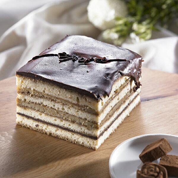【8oz的幸福手工烘培坊】歐貝拉opera (4吋)★ 2015蘋果日報母親節蛋糕評比第三名!(巧克力類)