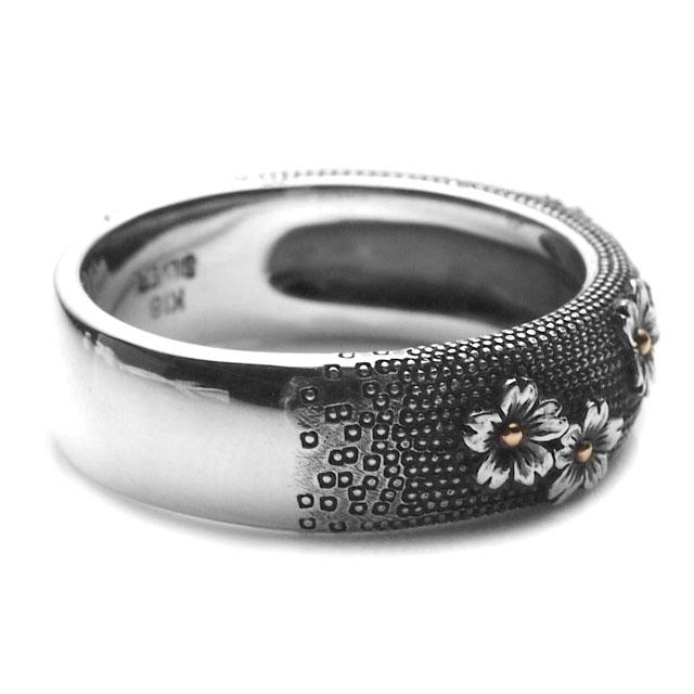 【海外訂購】【GLENN】櫻花魚子純銀戒指(GL-0028) 2