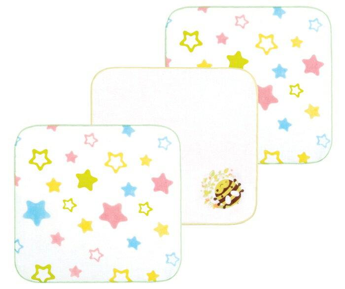 『121婦嬰用品館』拉孚兒純綿紗布手帕-蜜蜂星星(3入) 0