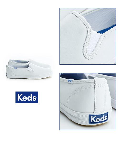 Keds 經典升級皮質休閒便鞋-白 3