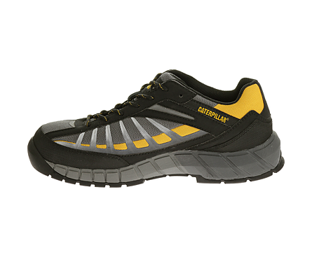 f4765c473813 CAT Footwear Infrastructure Steel Toe Safety Shoes (Grey Yellow)