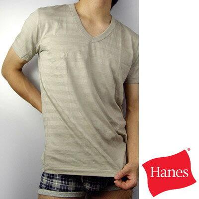 【Hanes】都會型男Y-SPEC系列V領條紋T恤