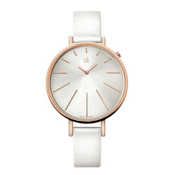 CK 光芒系列(K3E236L6)玫瑰金太陽光芒時尚腕錶/白面40.5mm
