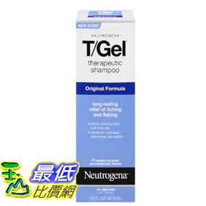[美國直購] Neutrogena T/Gel 16 Fl. Oz 洗髮精 Therapeutic Shampoo Original Formula