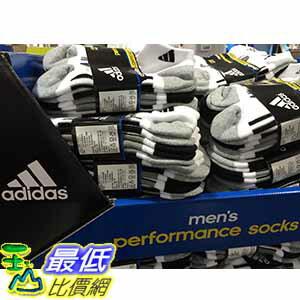 [105限時限量促銷] COSCO ADIDAS MENS SOCKS 6PK 男運動短襪6入 適合鞋子尺寸:US 6-12 _C949985