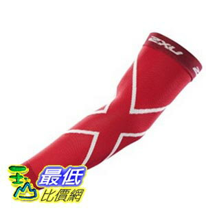 [美國直購] 2XU Compression Recovery Arm Sleeves 臂袖 M (Red)