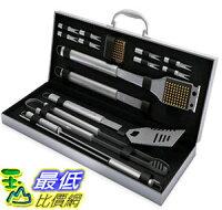 中秋節烤肉食材到[105美國直購] BBQ Grill Tools Set with 16 Barbecue Accessories