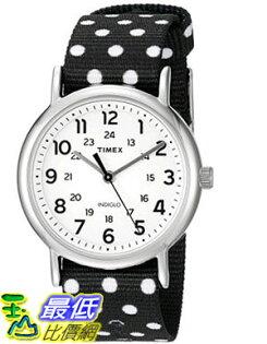 [105美國直購] Timex Womens Weekender Analog Nylon Slip-Thru Strap Watch