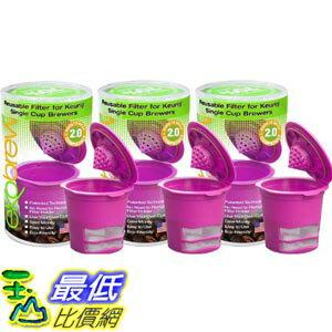 [美國直購] Ekobrew Cup 852748003092 Refillable Cup for Keurig K-Cup Brewers, 3-Count 咖啡杯_TC11