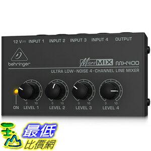 [美國直購] BEHRINGER MICROMIX MX400 口袋型 四軌混音器 MX-400