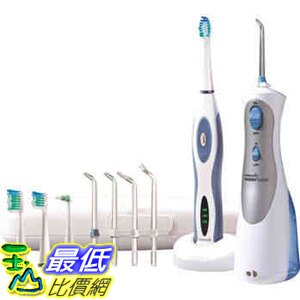 [美國直購] The Waterpik 可攜式沖牙機 和電動牙刷 同捆包 Dental Health Combo _C141068