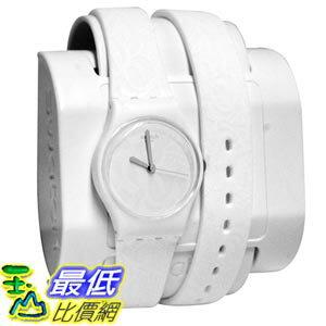 [美國直購] Swatch LW147 Sangallo White Silver Analog Dial Silicone Band 女士手錶
