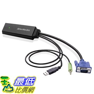 [美國直購] AVerMedia (ET110) Video Converter, Convert VGA Signals to HDMI Format Cable Adapter 轉接頭