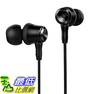 [美國直購] SoundPEATS B10 耳塞式 耳道式 耳機 3.5mm Headphones In-ear Wired Earphones Earbuds - Black