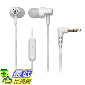 [美國直購] Audio-Technica 入耳式耳機 ATH-CLR100iSWH SonicFuel In-Ear Headphones with In-line Microphone & Control, White