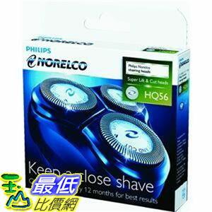 [美國直購 ShopUSA] 電動剃鬚刀 Norelco Hq56/52 3刀頭入 Electric Shaver Replacement Heads $888