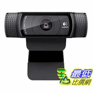 [美國代購] Logitech 攝像頭 HD Pro Webcam C920, 1080p Widescreen Video Calling and Recording (960-000764)