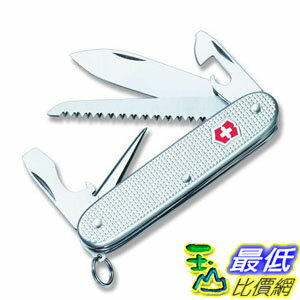[美國直購] 瑞士軍刀 Victorinox Swiss Army Farmer Pocket Knife (Silver Alox Ribbed)#53964