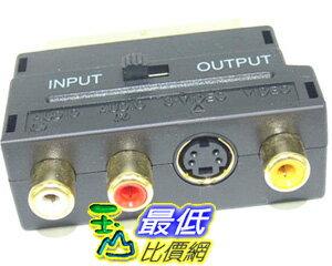 _B@ [玉山最低比價網]  SCART 歐插轉接頭 S端子 AV RCA 端子 可調 輸入 輸出(12261_k207) $72