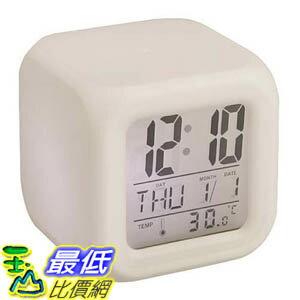 _A@[玉山最低網A] 骰子造型 LED變化七彩顏色 電子鬧鐘 (9922008_m121) $89