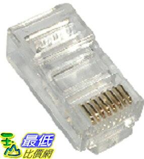 _A@[玉山最低比價網]    100顆 全新 進口 AMP 三叉 RJ45 網路 鍍金 8P8C 模組 接頭 (10011_m04) $119