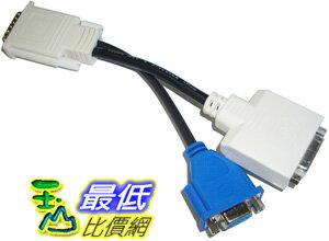 _B@[玉山最低比價網 有現貨] DMS-59轉DVI-I + VGA線 1公轉2母 訊號線 螢幕延長線 傳輸線 線材 (12089_F304) d $183