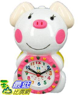 _a [玉山最低比價網]  卡哇伊 小花豬造型 電子機械式 中文語音鬧鈴 鬧鐘/時鐘 (221044) $330