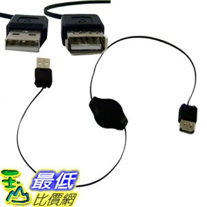 _a@[玉山最低比價網] 80 公分 伸縮 USB 公頭 / 母頭 A type 延長線 線材 (12212_E2B2)