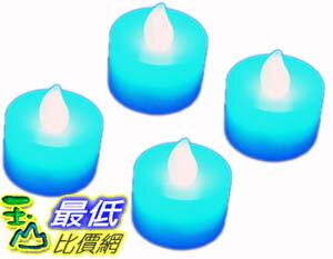 _B@[玉山最低比價網 有現貨] 藍色 LED 電子 蠟燭 造型燈 裝飾燈 增加浪漫氣氛又環保 (22267_Y102)