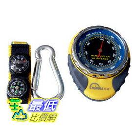 [玉山最低比價網] 明高高檔多功能高精機械式高度計(氣壓計、溫度計、指南針)海拔表 dh088