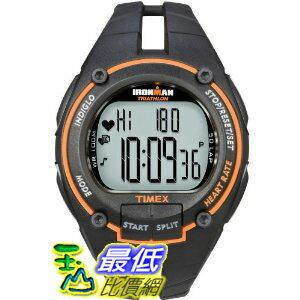 [美國直購 ShopUSA] Timex 手錶 Ironman Men's Road Trainer Heart Rate Monitor Watch, Black/Orange, Full Size