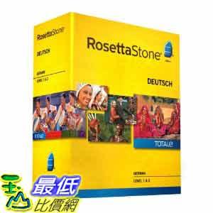 [美國直購ShopUSA] 羅塞塔石碑 Rosetta Stone V4 TOTALe: German Level 1-2 Set $17272