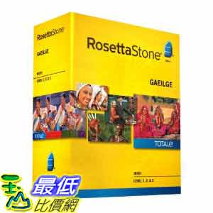 [美國直購ShopUSA] 羅塞塔石碑 Rosetta Stone V4 TOTALe: Irish Level 1-3 Set $22186