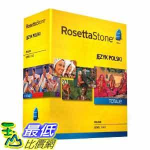 [美國直購ShopUSA] 羅塞塔石碑 Rosetta Stone V4 TOTALe: Polish Level 1-2 Set $17272