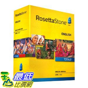 [美國直購ShopUSA] 羅塞塔石碑 Rosetta Stone V4 TOTALe: English (British) Level 1-2 Set $17272