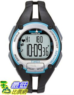 [美國直購 ShopUSA] Timex 手錶 Ironman Road Trainer Heart Rate Monitor Watch, Black/Silver/Blue, Mid Size