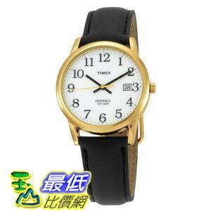 [美國直購 ShopUSA] Timex 手錶 Men's T2H291 Easy Reader Black Leather Strap Gold-Tone Case Watch