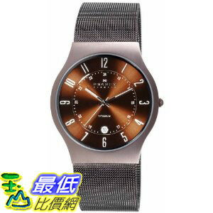 [美國直購 ShopUSA] Skagen 手錶 #233XLTMD Denmark Mens Watch Brown Titanium  $4227