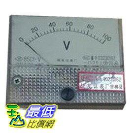 _a@ [玉山最低比價網] 直流電壓計 電壓表 指針 盤用方型 85C1-V 0~100V CLASS-2.5 (34111_Y24) $109