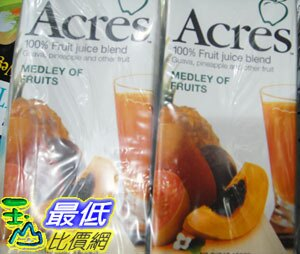 [玉山最低比價網]  COSCO ACRES MEDLEY FRUIT JUICE 綜合水果汁1000毫升*6入 C47355 $385