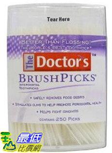 [現貨] 美國進口 牙間刷 The Doctor''s BrushPicks Toothpicks: 250 Pack