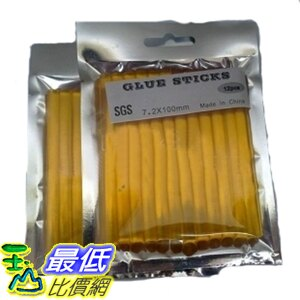 [玉山最低比價網] 黃色透明接發熱熔膠棒膠條 12 條 7.2x100mm (P615) dd