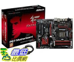 [美國直購 ShopUSA] ASRock 主機板 LGA1155/ Intel P67/ DDR3/ SATA3&USB3.0/ A&GbE/ ATX Motherboard, FATAL1TY P67 PERFORMANCE by ASRock $5600