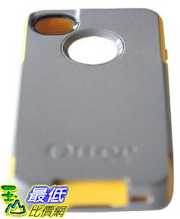 [現貨 美國直購 USAshop] Otterbox 保護殼 77-18551 Commuter Series Hybrid Case for iPhone 4 & 4S - Retail Packaging - Gunmetal Grey/Sun Yellow