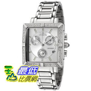 [美國直購 ShopUSA] Invicta 手錶 Women's 5377 Square Angel Diamond Stainless Steel Chronograph Watch