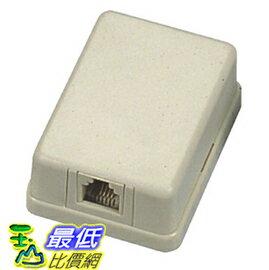 [玉山最低比價網] 4C 4蕊 單孔 電話接線盒 適用於一般電話機、總機型話機 電話線專用轉接盒(0723)(豐原現貨) $20